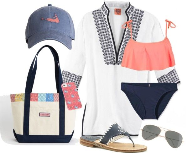 Vineyard Vines Bag, Ray Ban Sunglasses, Tory Burch Cover Up, and Jack Rodgers Shoes