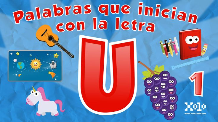 Words that start with the letter U in Spanish for children