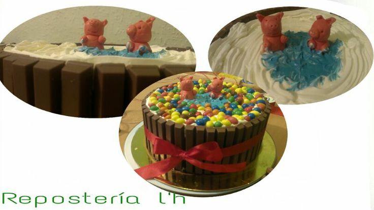 divertido pastel de 3kg. para un cumple  infantil.todo casero. www.reposterialh.com
