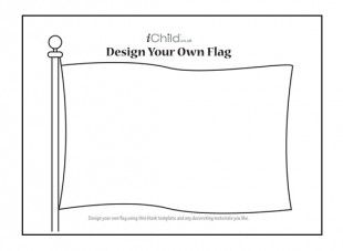 This blank flag template can be decorated with the flag of any country.