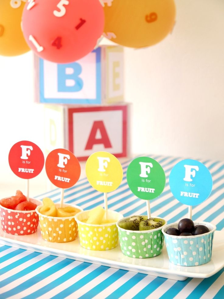 ABCs Birthday party Healthy Food Ideas with recipes