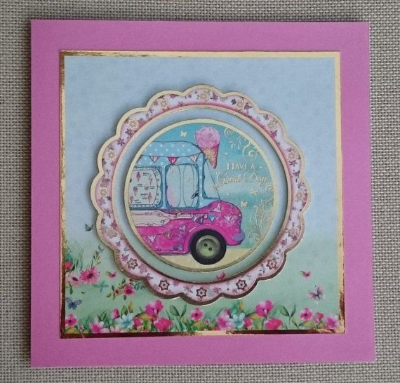 Handmade 7 x 7 Greeting Card  Have a Great Day by BavsCrafts