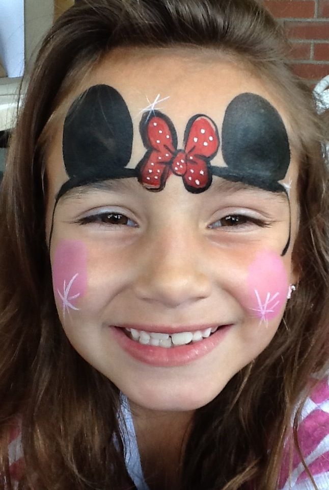 My sweet Minnie Mouse face painting | Rachel's Face ...