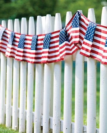 Memorable: Holiday, Idea, Picket Fence, Red White Blue, American Flag, July 4Th