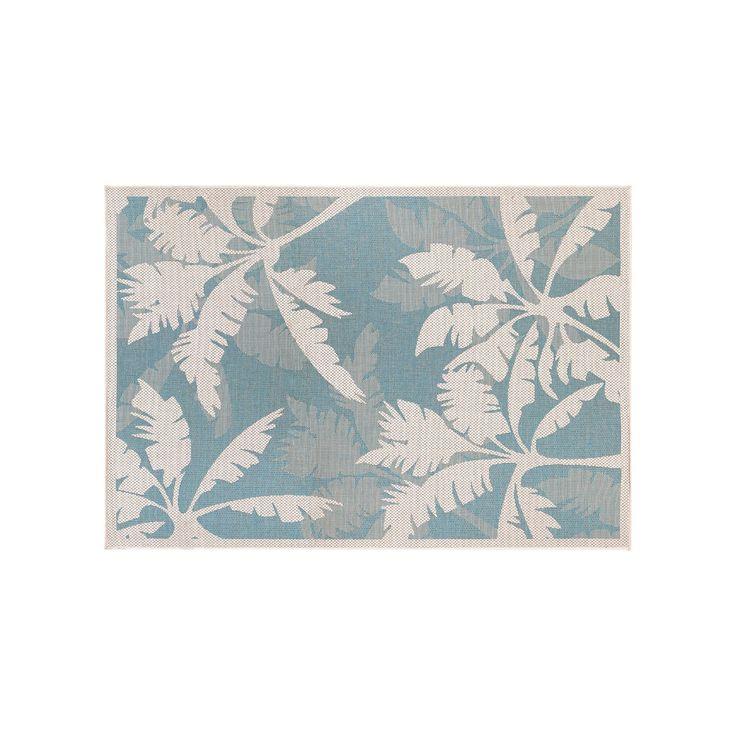 Couristan Monaco Coastal Floral Indoor Outdoor Rug, White, Durable