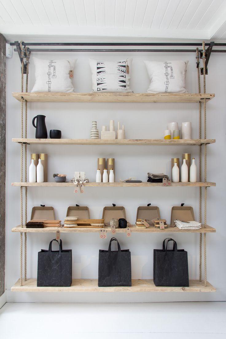 Hanging Rope Shelves  Folklore  Design Milk