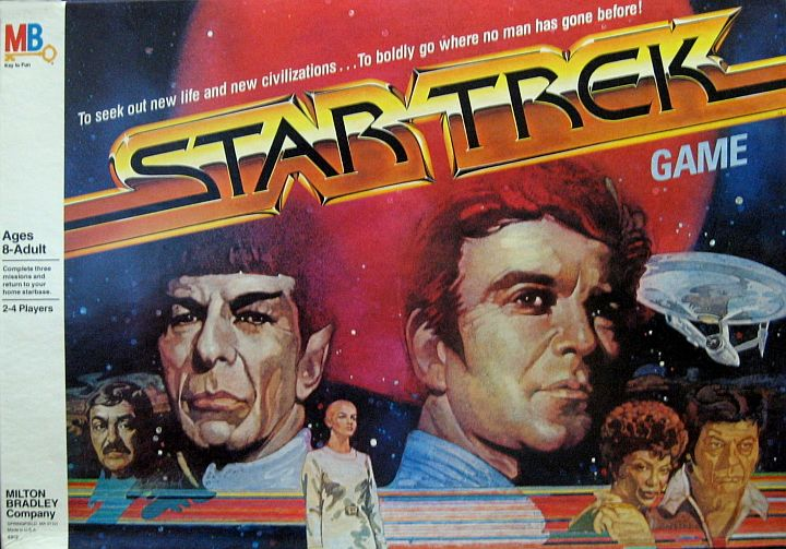 "1979 ""Star Trek"" Board Game, from Milton Bradley. Here is a GREAT board game based on the much-heralded (and hyped!) feature film ""Star Trek: The Motion Picture"". In 1979 this long-awaited project saw the light, with the original cast of the NBC TV series (canceled 11 years prior to this film) reunited on a newly refitted Starship ""Enterprise"" with new challenges ahead. Only one in stock. $135.00"