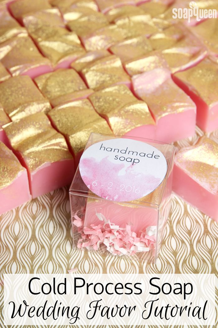 Handmade soap is the perfect wedding favor. Click here to learn how to make 72 bars in as little as two hours.