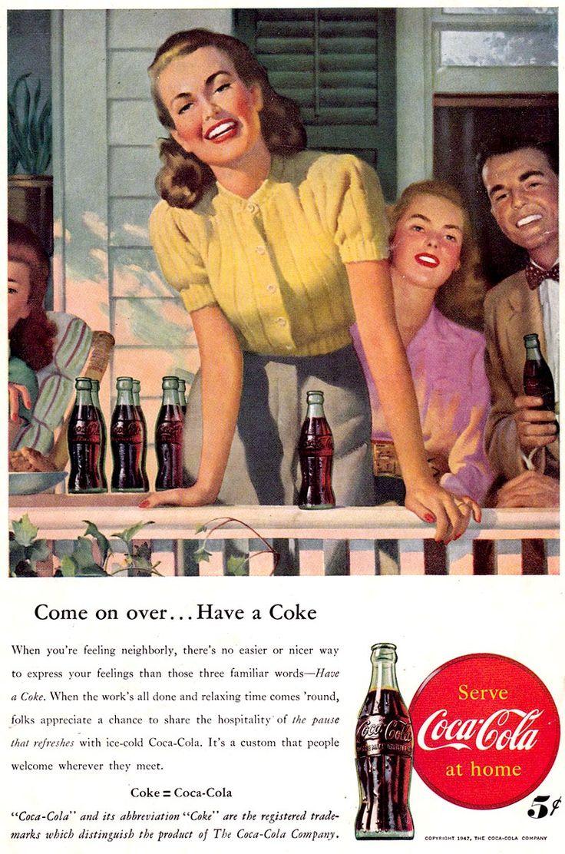 Ad illustration for coca cola