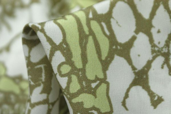 Animal Tropics - Crepe De Chine Silk - Tessuti Fabrics - Online Fabric Store - Cotton, Linen, Silk, Bridal & more