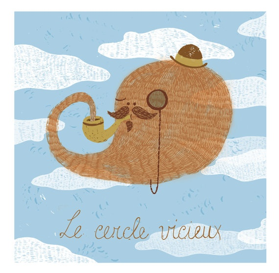 Le cercle vicieux - illustrated poster