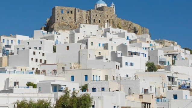 """The charming island of Astypalaia is known to locals as """"The Butterfly of the Aegean"""" because of its shape."""