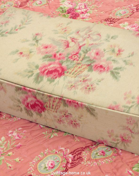 Vintage Home Shop - Pretty French Rose Basket Fabric Box: www.vintage-home.co.uk