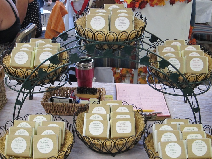 craft show soap displays