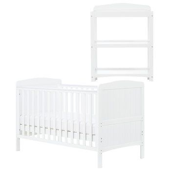 ashcroft nursery furniture set cotbed in white with free dresser 159