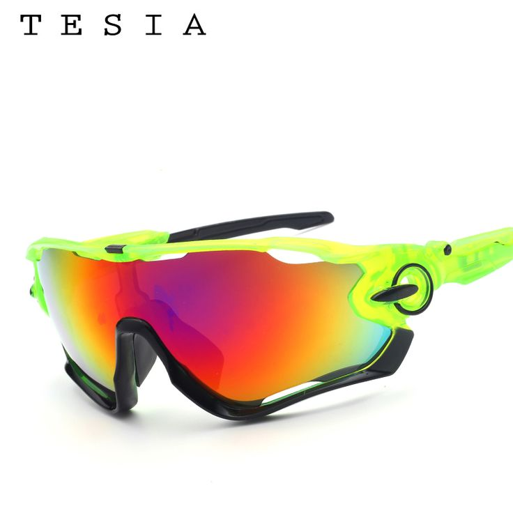 TESIA Brand Designer Sports Sunglasses Men Mirror Glasses For Driving Outdoors Sport Men Women Goggles Rubber Nose Pad T029