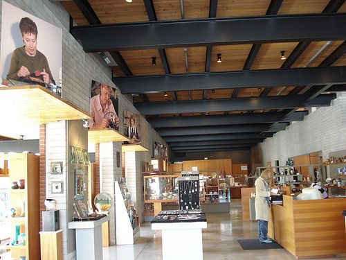 The Clay & Glass Gallery- just a short walk from the Barrel Yards!