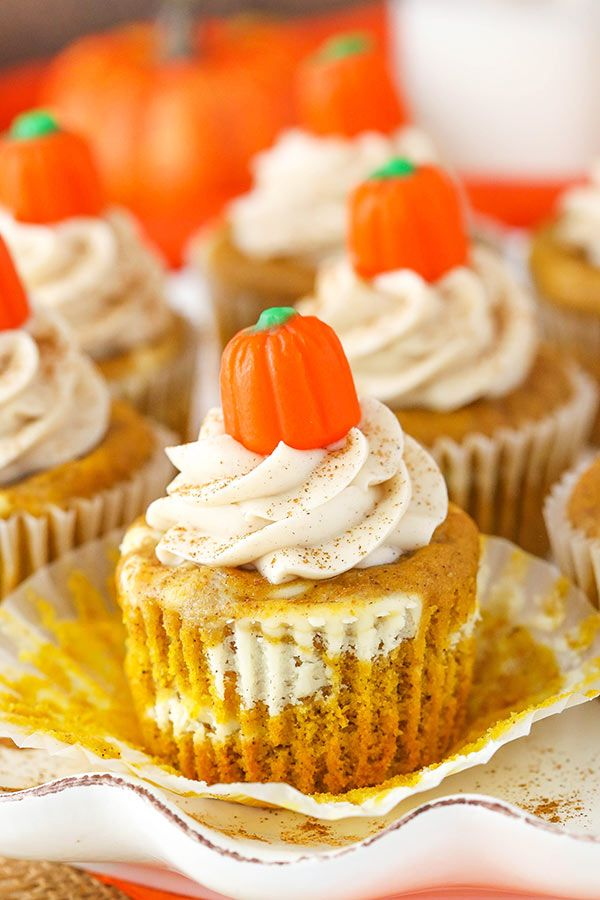 Pumpkin Cheesecake Swirl Cupcakes Recipe Pumpkin Cheesecake