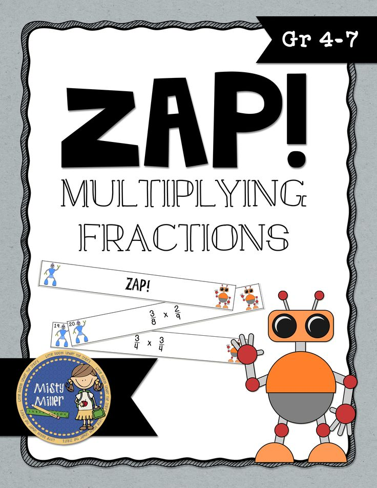 Multiplying Fractions ZAP is a fun and engaging game where students try to hold on to their strips and not get ZAPPED. The game contains 20 cards with multiplying fractions problems, 4 ZAP cards, directions, a label for your container, an answer key, and an exit ticket. $ gr. 4-7
