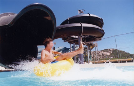 Water attraction, fun and sun