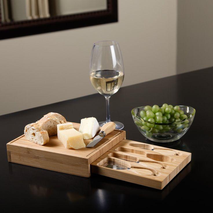 Picnic at Ascot Edam Bamboo Cheese Board Set - Serveware at Hayneedle