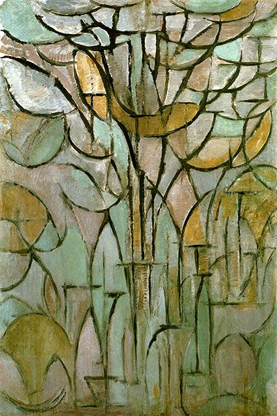 The Tree by Piet Mondrian | tree 1912 by piet mondrian canvas print 13592 by piet mondrian share