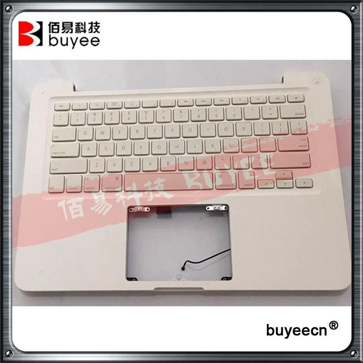 "Original Used White A1342 Top Case For Macbook Unibody 13"" A1342 Palmrest Palm Rest Topcase With US Layout Keyboard"