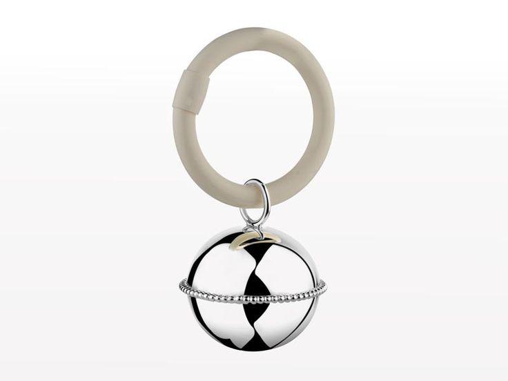 Grzechotka niemowlęca (srebro 925) Zilverstad Ball Pearl Ring