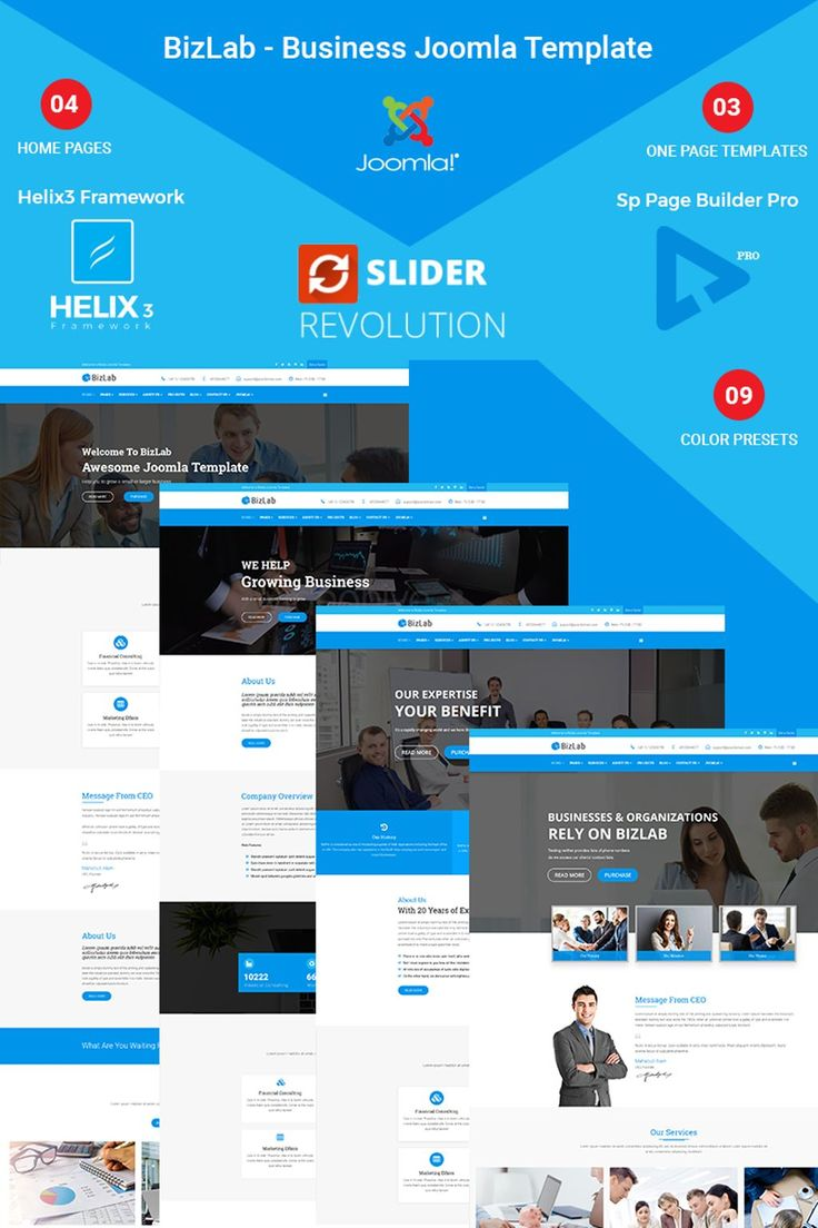 BizLab - Business Responsive Joomla Theme Big Screenshot