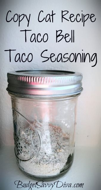 Taco bell taco seasoning (tried it, it is good): Tacos Seasons, Belle Tacos, Cat Recipes, Taco Bell, Copy Cat Recipe, Copy Cats, Gluten Free, Tacos Belle, Tacos Meat