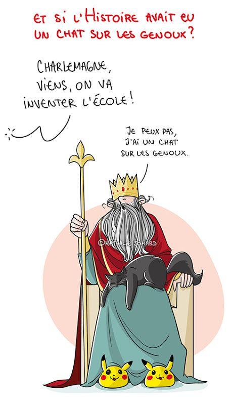 Petit précis de Grumeautique - Blog illustré: Et si l'Histoire avait eu un chat sur les genoux ?