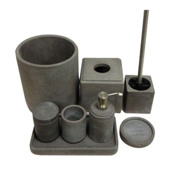 home decor customized concrete bathroom accessory sets