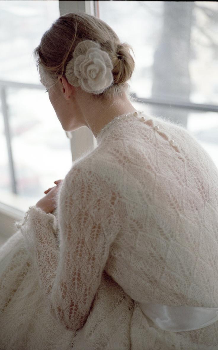 Knitted Wedding Dress by astasiskiene on Etsy