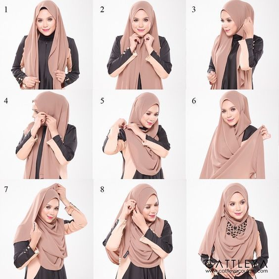 This hijab style has it all, the elegance, the modesty and the beauty, it's a classy look especially using this hijab color, earth colors have become the most trendy shades whether on hijabs or on makeup. To get this look,…