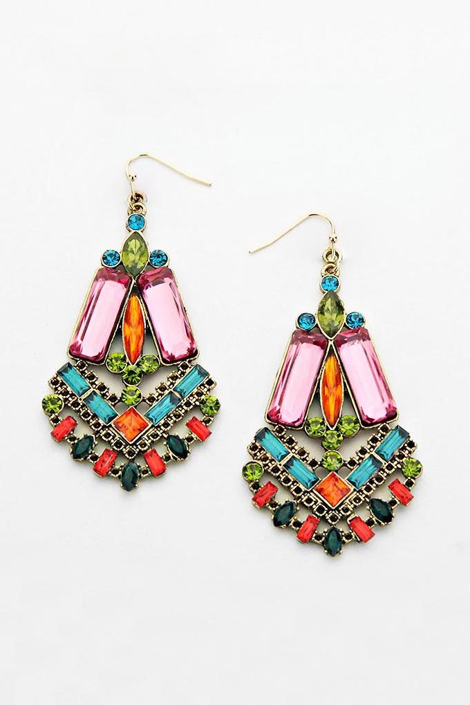 These earrings are so colorful and so pretty! I want them!
