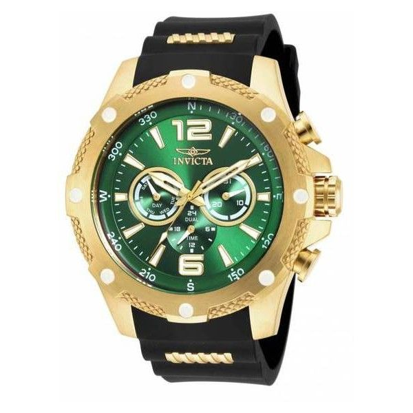 Men's Invicta Men's I-Force Watch ($70) ❤ liked on Polyvore featuring men's fashion, men's jewelry, men's watches, gold, jewelry & watches, mens diamond bezel watches, mens green watches, invicta mens watches, mens watches jewelry and stainless steel mens watches