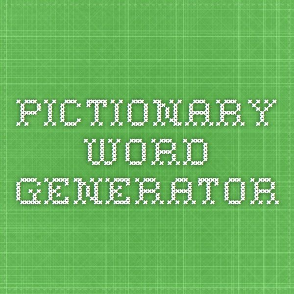 Pictionary Word Generator