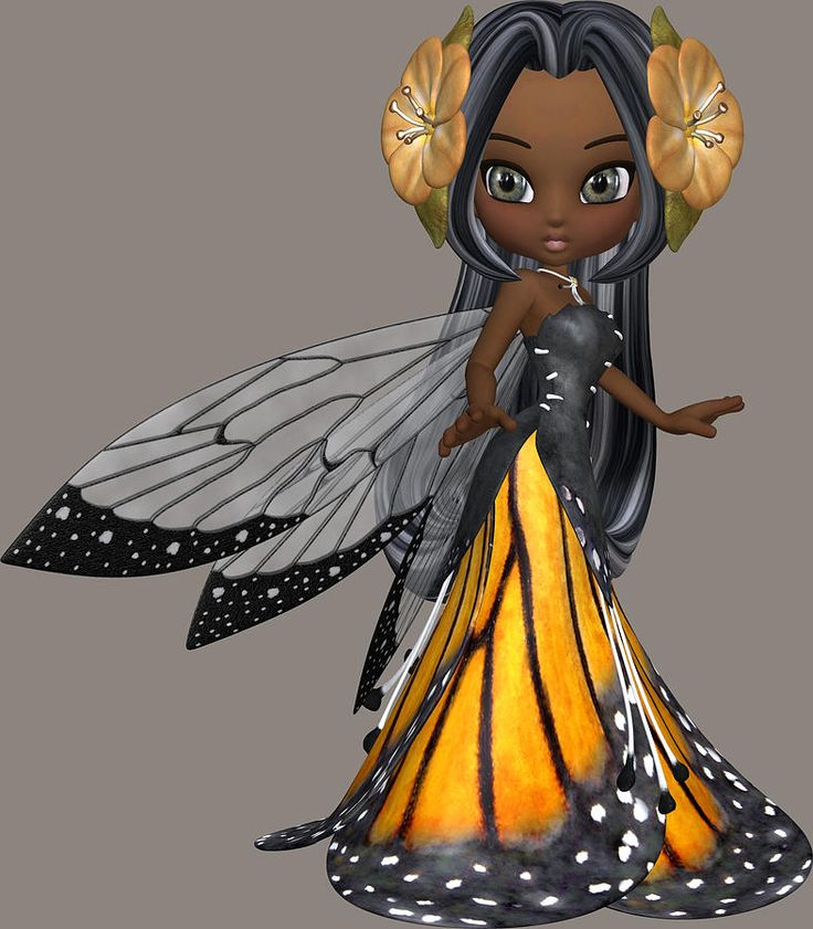 African American Fairies | African American Fairy Girl Digital Art