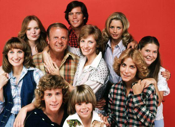 Foto de familia de la serie televisiva 'Con ocho basta' (1977).