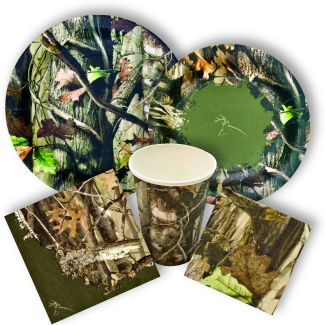 Realistic and colorful hunting party supplies from www.DiscountPartySupplies.com