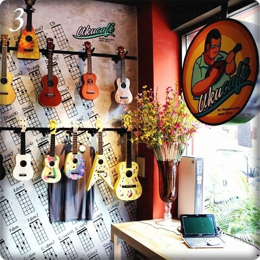 """At """"The UkuCafe"""" you get ukulele, coffe, free wifi, food"""