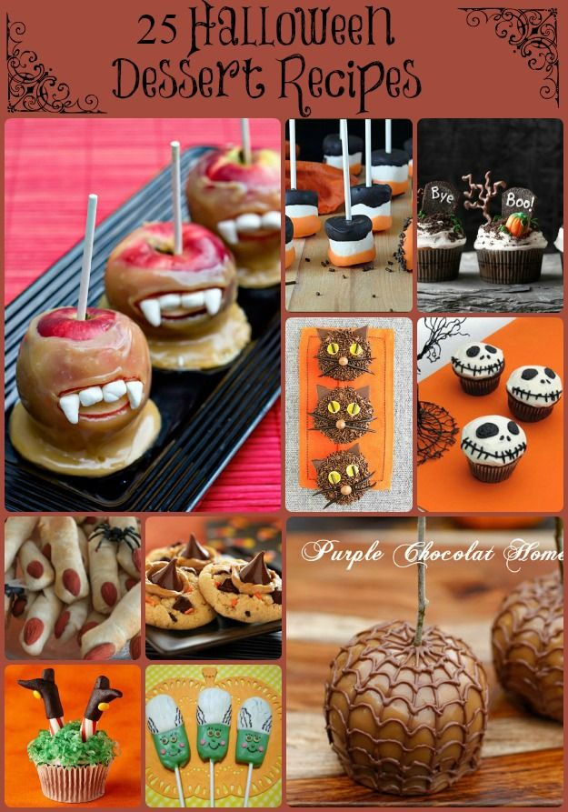 25 halloween dessert recipes so awesome it s scary via desserts. Black Bedroom Furniture Sets. Home Design Ideas