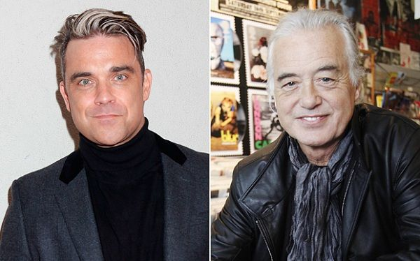 Enfermo mental; Robbie Williams a Jimmy Page