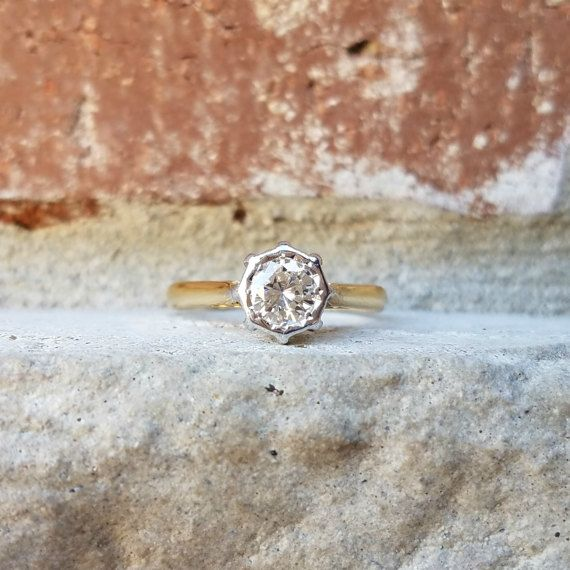 Vintage anillo de compromiso con diamante por CypressCreekVintage