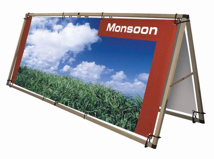 Buisframe Monsoon spandoekframe -100x250 cm - Vision-line