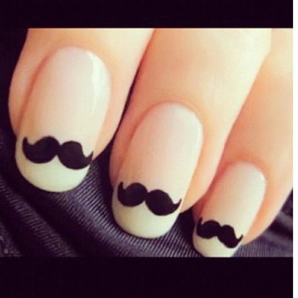 mustache nails: Nails Art, French Manicures, Style, Nailart, Moustache Nails, Nailsart, Beautiful, Mustache Nails, Mustachenails