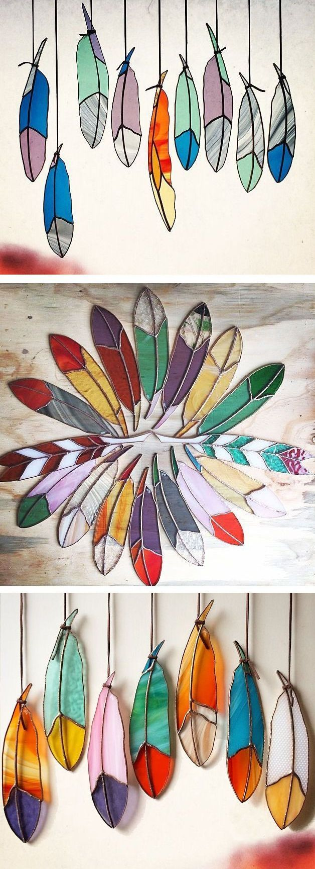 Stained Glass Feathers ❤︎                                                                                                                                                      More