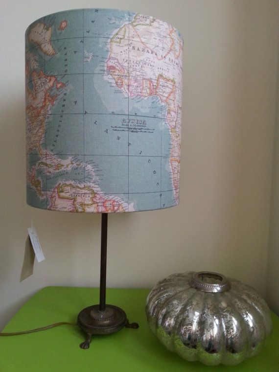 39 best vintage map lampshades images on pinterest vintage cards world map fabric lampshade 30x30cm by alipeacock on etsy 3500 gumiabroncs Image collections