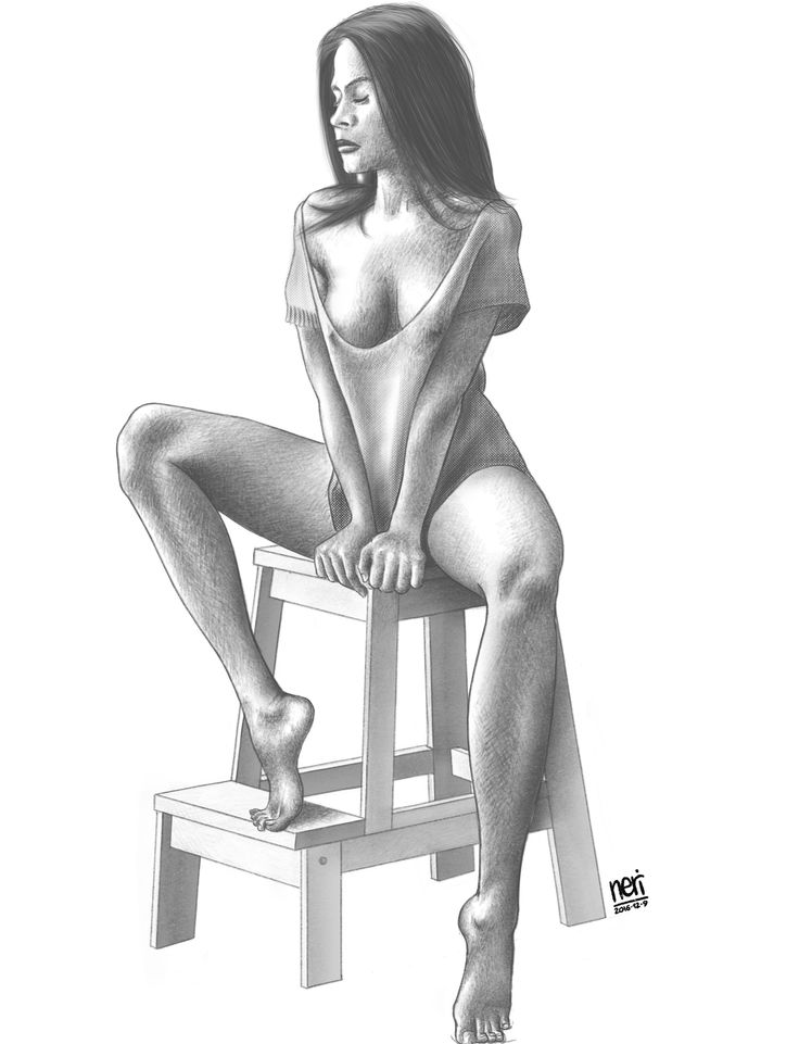 Una ragazza trovata su Tumblr, in una posa che mi piaceva. In una versione ha anche lo sfondo: qui è senza. --- A girl I've found on Tumblr, in a wonderful pose. In another version I added the background; this is without. #girl #posing #drawing #digital #pencil #model #modeling #procreateapp #applepencil #1yeardrawing
