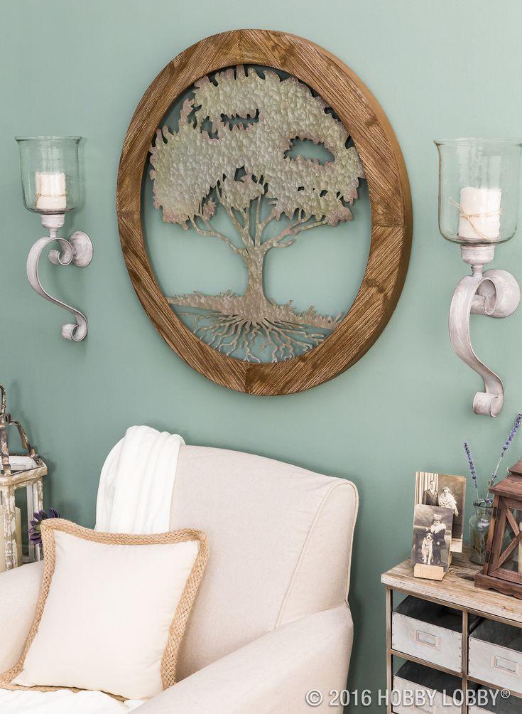 round tree metal wall decor